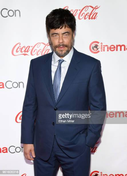 Actor Benicio Del Toro recipient of the Male Star of the Year award attends the CinemaCon Big Screen Achievement Awards brought to you by the...