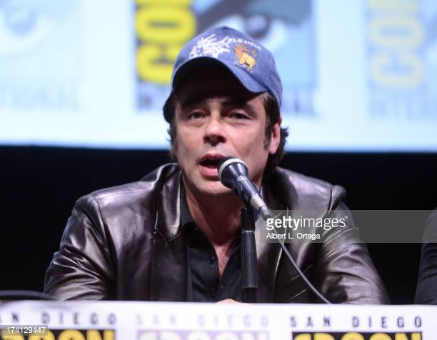 Actor Benicio Del Toro speaks onstage at Marvel Studios Thor The Dark World and Captain America The Winter Soldier during ComicCon International 2013...