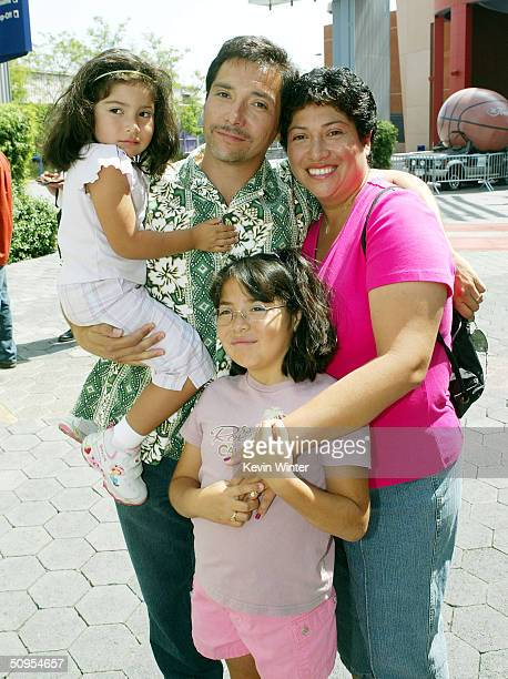 Actor Benito Martinez his wife Laura and daughters Isabella and Victoria arrive at the premiere of Universal's Two Brothers at Universal Studios...