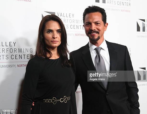 Actor Benjamin Bratt and his wife Talisa Soto Bratt arrive at the Valley Performing Arts Center Inaugural Gala Performance at California State...