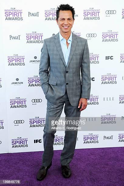 Actor Benjamin Bratt arrives at the 2012 Film Independent Spirit Awards on February 25 2012 in Santa Monica California