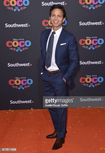 Actor Benjamin Bratt arrives at the premiere of Disney Pixar's 'Coco' at El Capitan Theatre on November 8 2017 in Los Angeles California
