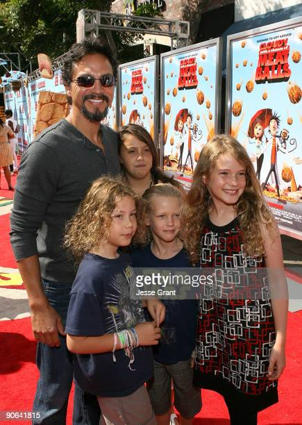 Actor Benjamin Bratt arrives on the red carpet at the Los Angeles premiere of 'Cloudy With A Chance Of Meatballs' at the Mann Village Theatre on...