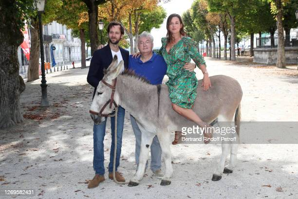 "Actor Benjamin Lavernhe, Co-creator of the Festival Dominique Besnehard and actress Laure Calamy attend the ""Antoinette Dans Les Cevennes"" Photocall..."