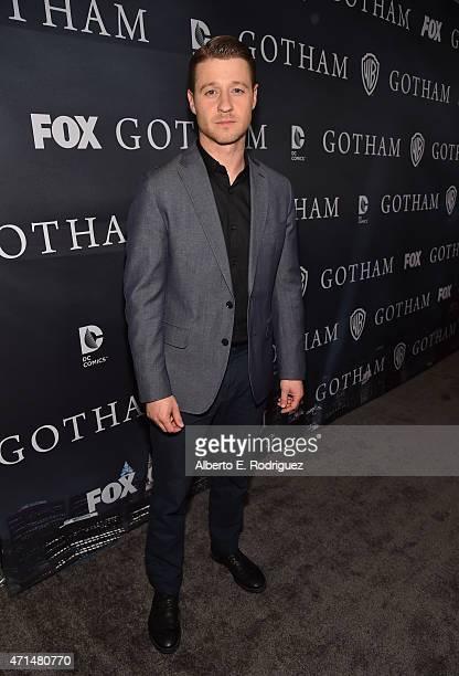 Actor Benjamin McKenzie attends Fox's Gotham Season Finale Screening at Landmark Theatre on April 28 2015 in Los Angeles California