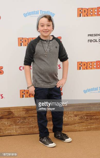 Actor Benjamin Stockham arrives at the 'Free Birds' Los Angeles Premiere at Westwood Village Theatre on October 13 2013 in Westwood California