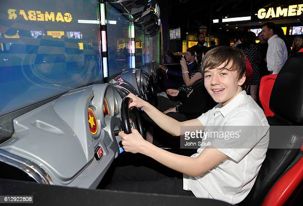 Actor Benjamin Stockham attends the Los Angeles red carpet screening of Middle School The Worst Years Of My Life at TCL Chinese Theatre on October 5...