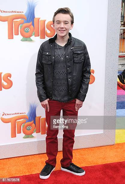 Actor Benjamin Stockham attends the premiere of 20th Century Fox's 'Trolls' at Regency Village Theatre on October 23 2016 in Westwood California