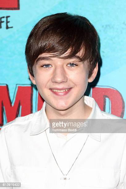 Actor Benjamin Stockham attends the premiere of CBS Films' Middle School The Worst Years Of My Life at TCL Chinese 6 Theatres on October 5 2016 in...