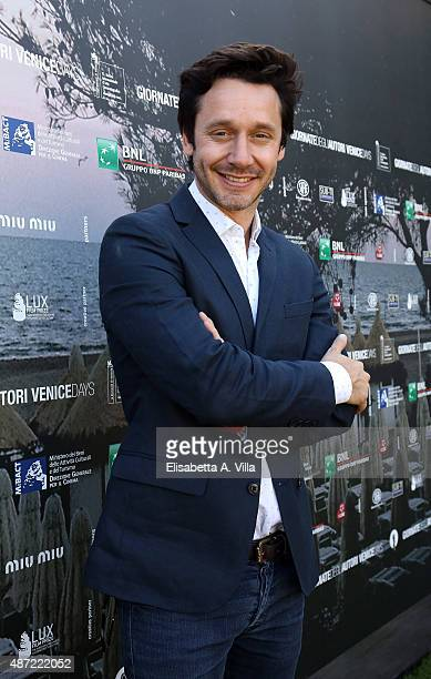 Actor Benjamin Vicuna attends a photocall for The Memory Of Water' during the 72nd Venice Film Festival at Villa degli Autori on September 7 2015 in...