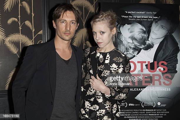 Actor Benn Northover and actress/model Antonia CampbellHughes attend Lotus Eaters New York Premiere at No 8 on April 3 2013 in New York City