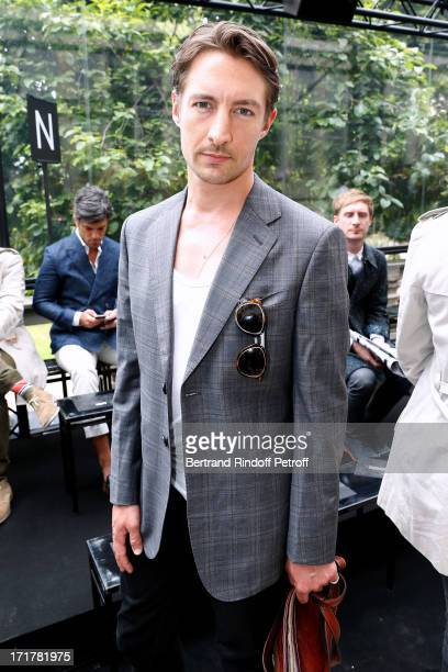Actor Benn Northover attends Cerruti Menswear Spring/Summer 2014 Show As Part Of The Paris Fashion Week held at Institute for young deaf on June 28...