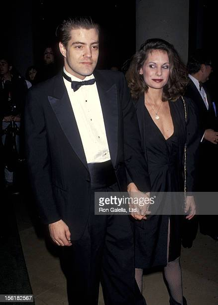 Actor Bentley Mitchum and wife Samara Mitchum attend the 10th Annual American Cinema Awards on February 6 1994 at Beverly Hilton Hotel in Beverly...