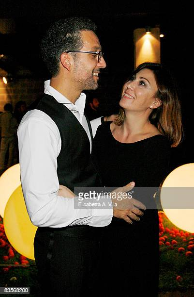 ROME OCTOBER 27 Actor Beppe Fiorello and Eleonora Pratelli attend Galantuomini party at Officine Farneto during the 3rd Rome International Film...
