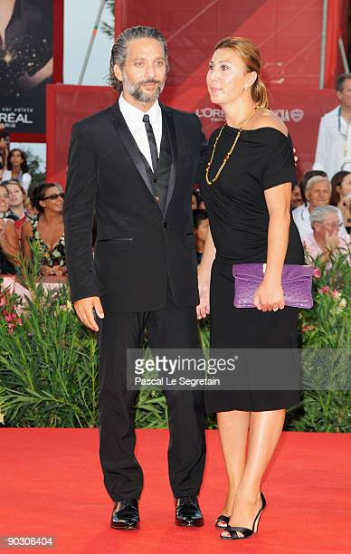 Actor Beppe Fiorello and Eleonora Pratelli attend the Opening Ceremony and Baaria Premiere at the Sala Grande during the 66th Venice International...