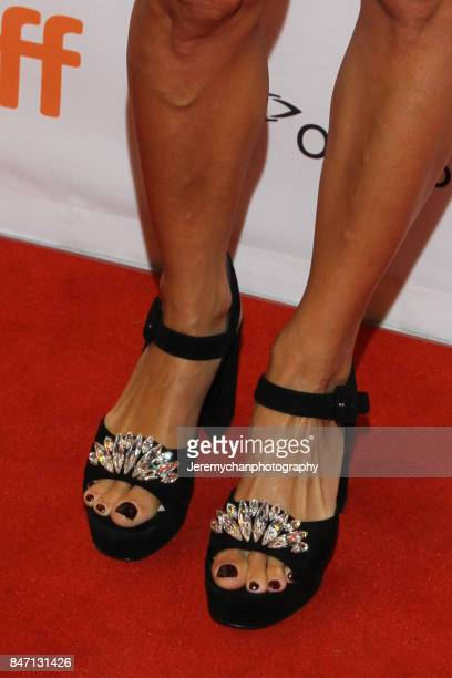 Actor Berenice Bejo shoe detail attends the 'Redoubtable' Premiere held at The Elgin during the 2017 Toronto International Film Festival on September...