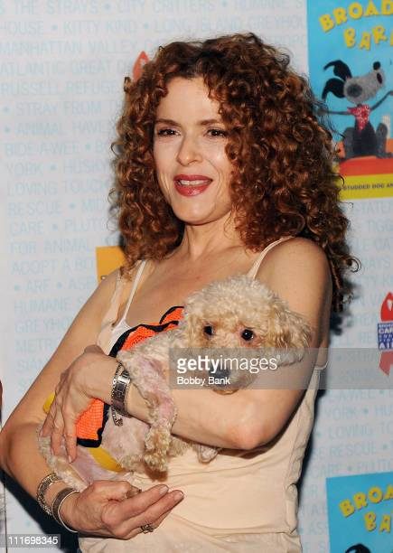 Actor Bernadette Peters attends the 11th Annual Broadway Barks in Shubert Alley on July 11 2009 in New York City