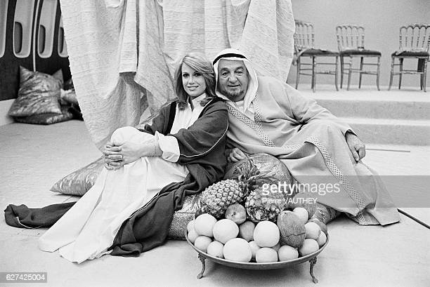 Actor Bernard Blier and Catherine Alric in Petrole Petrole