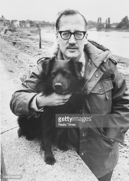 Actor Bernard Hepton with pet dog 'Spud' photographed by Radio Times in connection with his appearance in the BBC Play for Today 'Private Practice'...