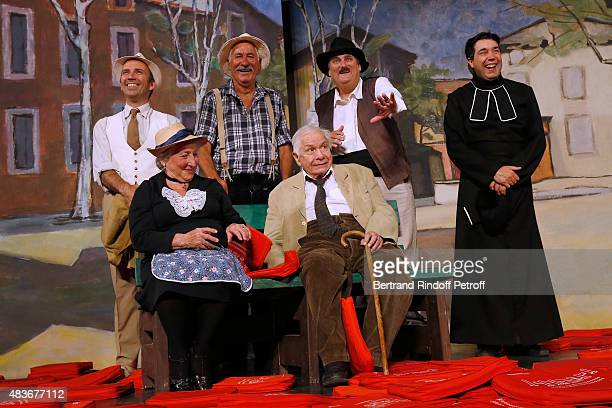 Actor Bernard Larmande Actor and Stage Director of the piece JeanClaude Baudracco Actor Philippe Sablayrolles Actors Andree Damant and Michel Galabru...