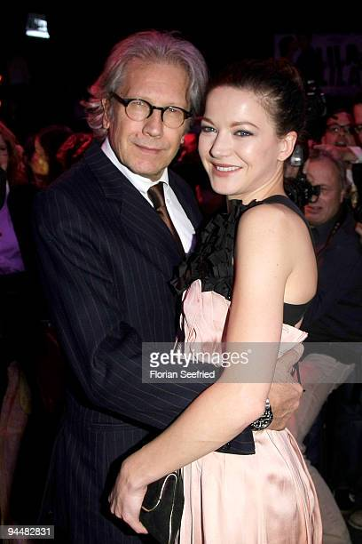 Actor Bernd Herzsprung and daughter actress Hannah Herzsprung attend the after party of the premiere 'LILA LILA' at Kesselhaus on December 15 2009 in...