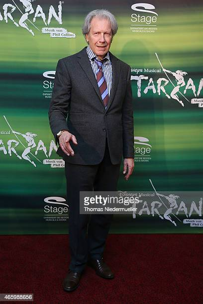 Actor Bernd Herzsprung poses at the red carpet prior to the Tarzan musical charity event at Stage Apollo Theater on March 12 2015 in Stuttgart Germany