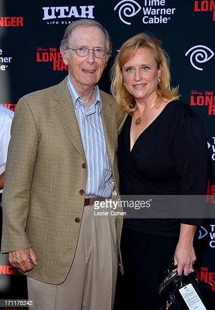 Actor Bernie Kopell and wife Catrina Honadle arrive at Disney's The Lone Ranger World Premiere at Disney's California Adventure on June 22 2013 in...