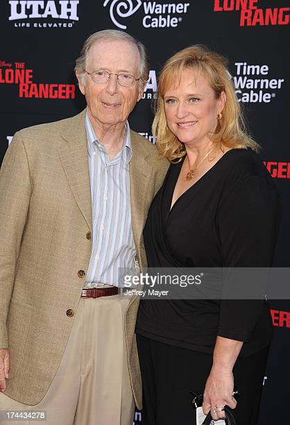 Actor Bernie Kopell and wife Catrina Honadle arrive at 'The Lone Ranger' World Premiere at Disney's California Adventure on June 22 2013 in Anaheim...