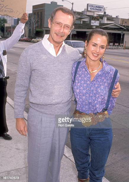 Actor Bernie Kopell and wife Yolanda Veloz attend the Superbowl XXIII San Francisco 49ers vs Cincinatti Bengals Viewing Party Hosted by Pierre...