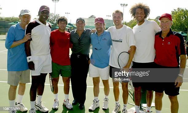 Actor Bernie Kopell former ATP pro Vijay Armitraj ATP pro Sebastien Grosjean singer Michael Bolten Martial Arts expert Chuck Norris ATP pro Gilles...