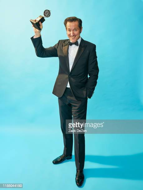 Actor Bertie Carvel winner of the award for Best Featured Actor in a Play for Ink poses for a portrait during the 73rd Annual Tony Awards on June 09...
