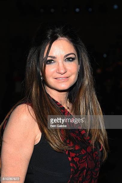 TV actor Beth Shak attends the Vivienne Hu Fall 2016 fashion show during New York Fashion Week The Shows at Art Beam on February 14 2016 in New York...