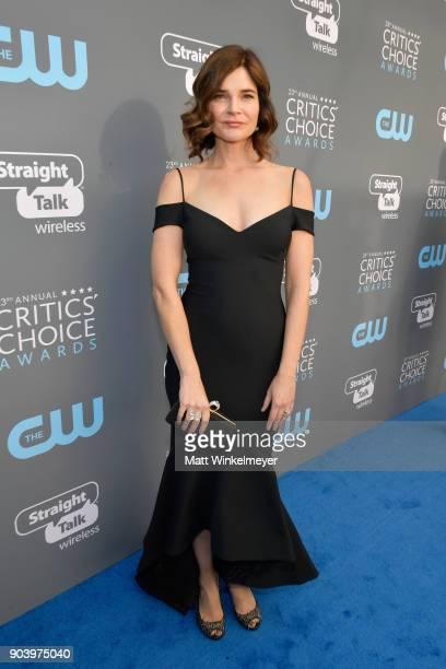 Actor Betsy Brandt attends The 23rd Annual Critics' Choice Awards at Barker Hangar on January 11 2018 in Santa Monica California