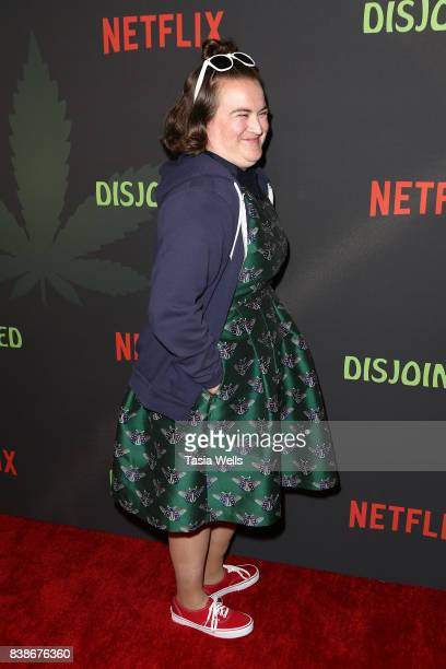 """Actor Betsy Sodaro at the premiere of Netflix's """"Disjointed"""" at Cinefamily on August 24, 2017 in Los Angeles, California."""