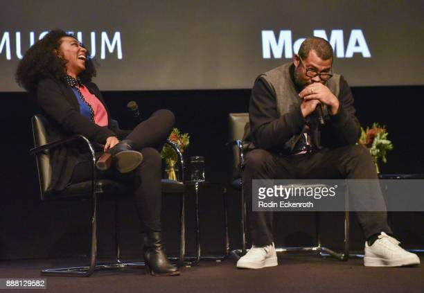 Actor Betty Gabriel and writer/director Jordan Peele speak onstage at Hammer Museum presents The Contenders 2017 Get Out screening at Hammer Museum...