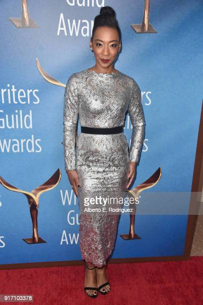 Actor Betty Gabriel attends the 2018 Writers Guild Awards LA Ceremony at The Beverly Hilton Hotel on February 11 2018 in Beverly Hills California