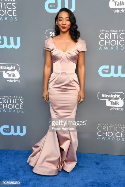 Actor Betty Gabriel attends The 23rd Annual Critics' Choice Awards at Barker Hangar on January 11 2018 in Santa Monica California
