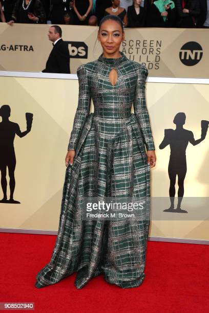 Actor Betty Gabriel attends the 24th Annual Screen Actors Guild Awards at The Shrine Auditorium on January 21 2018 in Los Angeles California 27522_017