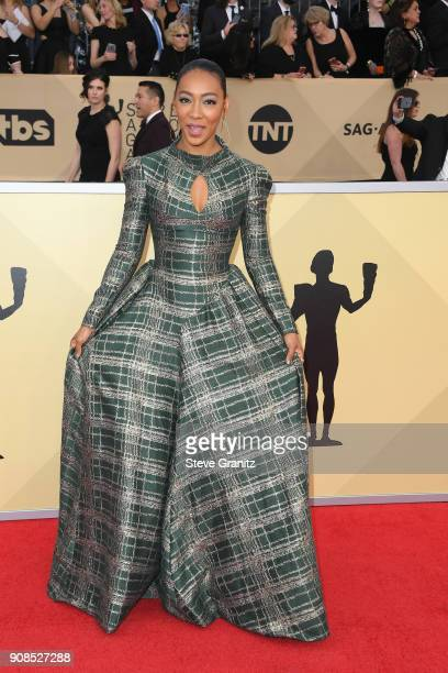 Actor Betty Gabriel attends the 24th Annual Screen Actors Guild Awards at The Shrine Auditorium on January 21, 2018 in Los Angeles, California.