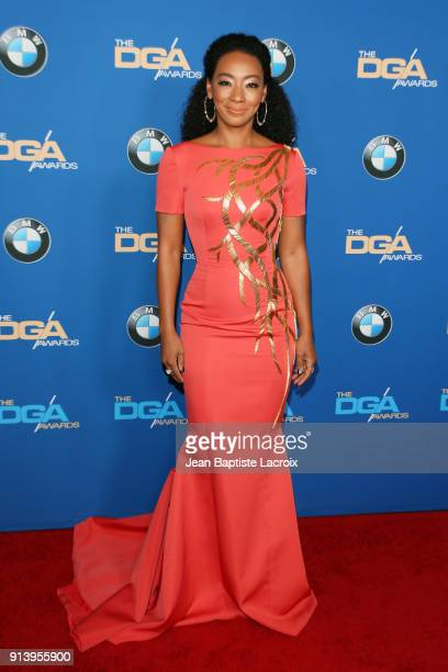 Actor Betty Gabriel attends the 70th Annual Directors Guild Of America Awards at The Beverly Hilton Hotel on February 3 2018 in Beverly Hills...