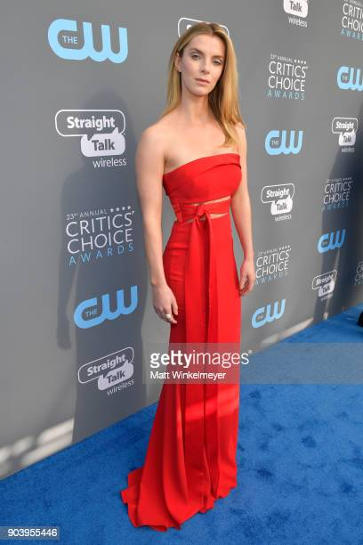 Actor Betty Gilpin attends The 23rd Annual Critics' Choice Awards at Barker Hangar on January 11 2018 in Santa Monica California