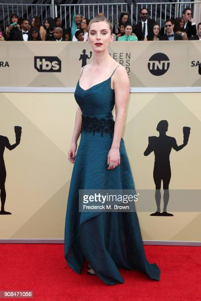 Actor Betty Gilpin attends the 24th Annual Screen Actors Guild Awards at The Shrine Auditorium on January 21 2018 in Los Angeles California 27522_017