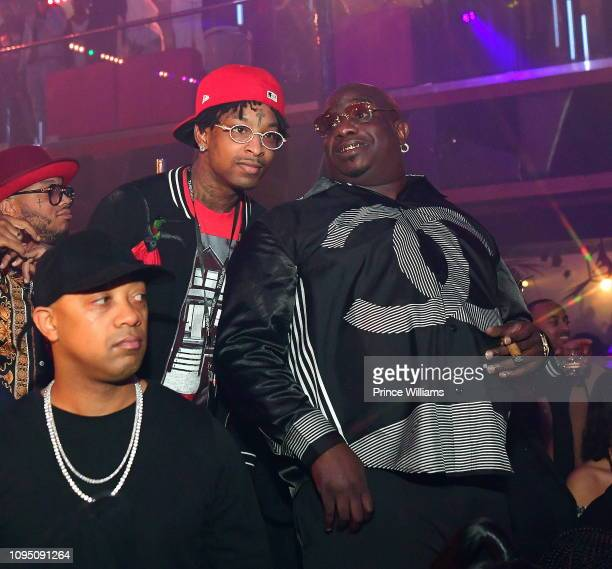 Actor Big Bank Black and 21 Savage attend the 2nd annual No Cap Tuesday at Gold Room on January 16 2019 in Atlanta Georgia
