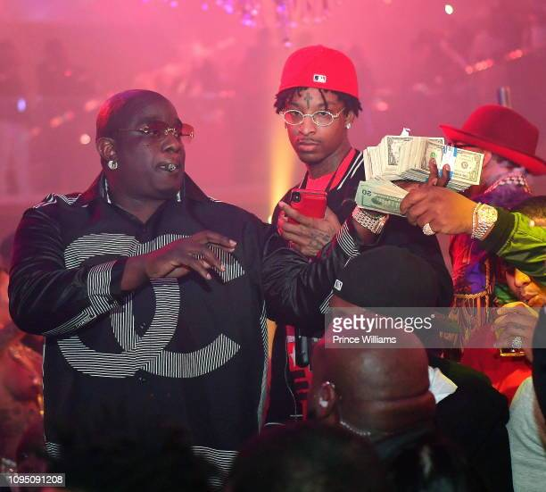 Actor Big Bank Black and rapper 21 Savage attend the 2nd annual No Cap Tuesday at Gold Room on January 16 2019 in Atlanta Georgia