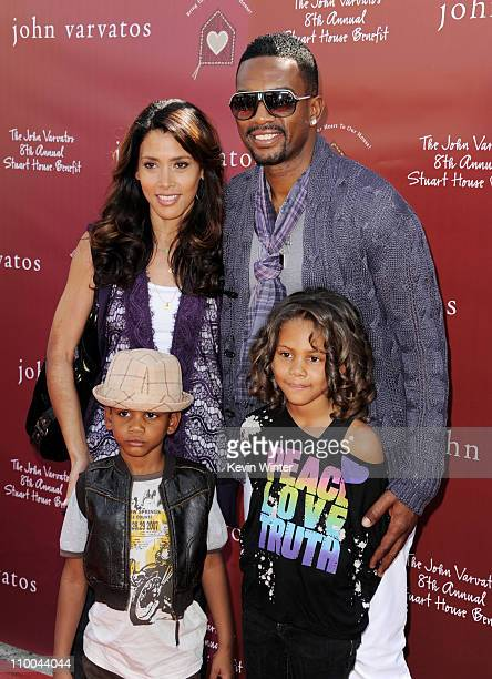 Actor Bill Bellamy and his wife Kristen and their son Baron and daughter Bailey arrive at John Varvatos' 8th Annual Stuart House Benefit at the John...