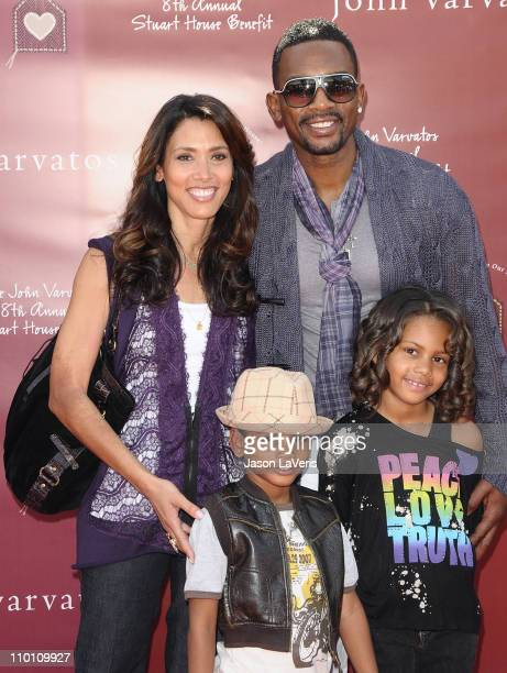 Actor Bill Bellamy and his wife Kristen and their son Baron and daughter Bailey attend the 8th annual John Varvatos Stuart House benefit at John...