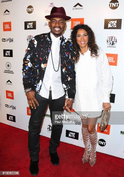Actor Bill Bellamy and his Wife Kristen Bellamy attend Kenny The Jet Smith's annual AllStar bash presented By JBL at Paramount Studios on February 16...