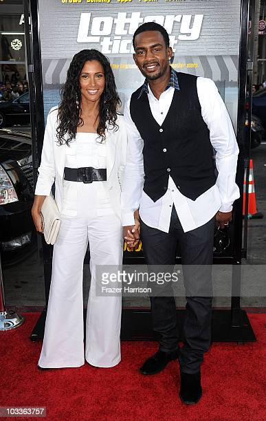 Actor Bill Bellamy and wife Kristen Baker attends the premiere Of Warner Bros Lottery Ticket at Grauman's Chinese Theatre ion August 12 2010 in...