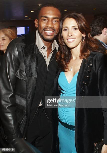 Actor Bill Bellamy and wife Kristen Bellamy attend football legend Jim Brown's surprise birthday party at Crustacean on February 15 2006 in Beverly...
