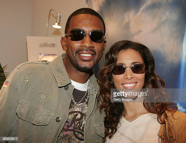 Actor Bill Bellamy and wife Kristen Bellamy visit the Silhouette lounge at Smashbox during MercedesBenz Fashion Week at Smashbox Studios October 17...